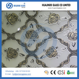 Factory price ice flower Decorative building background wall glass